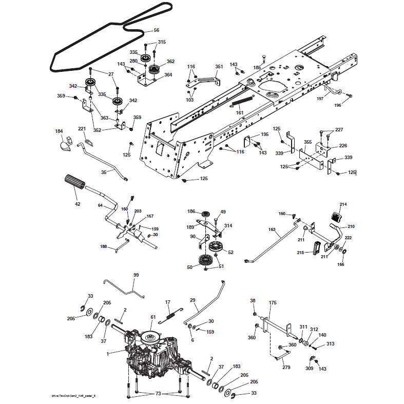 transmission tondeuse autoport e husqvarna cth194. Black Bedroom Furniture Sets. Home Design Ideas