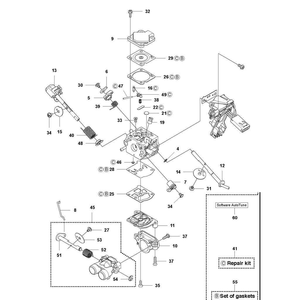 carburateur tron onneuse husqvarna 545. Black Bedroom Furniture Sets. Home Design Ideas