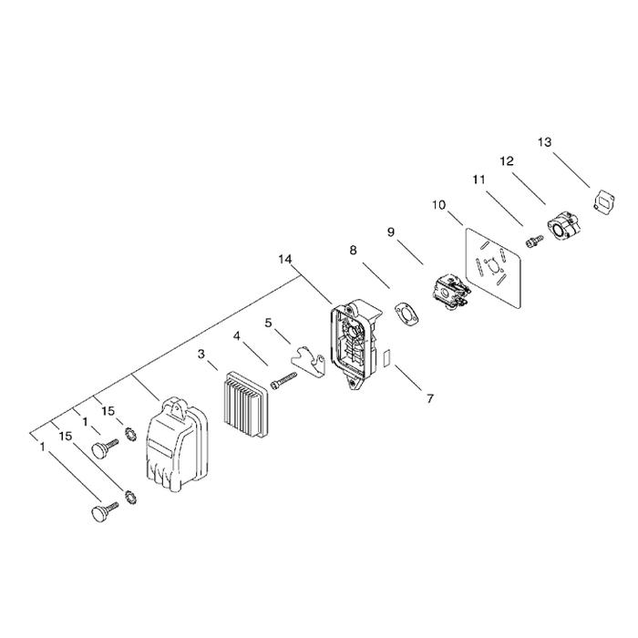 carburateur filtre air souffleur echo pb625. Black Bedroom Furniture Sets. Home Design Ideas