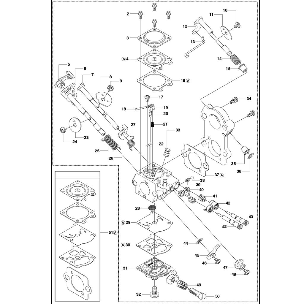 carburateur tron onneuse husqvarna 460. Black Bedroom Furniture Sets. Home Design Ideas