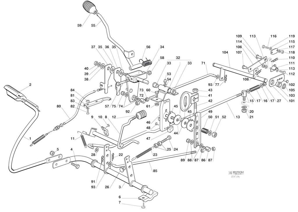 commande transmission et frein  autoport u00e9e sarp f125h