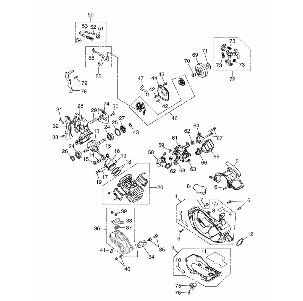 husqvarna schema moteurs