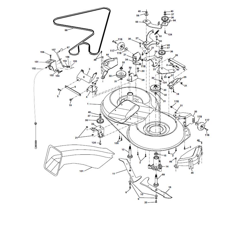 Carter coupe tondeuse autoport e husqvarna ct130 - Plateau de coupe tracteur tondeuse john deere ...